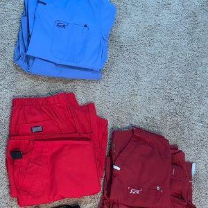 3 pairs of medium women's scrubs